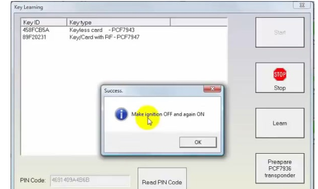 How to Add Renault Megane 3 2009 PCF7947 Key Card with FVDI -13