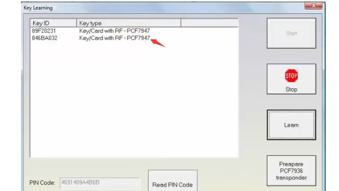 How to Add Renault Megane 3 2009 PCF7947 Key Card with FVDI -14