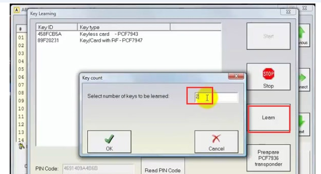 How to Add Renault Megane 3 2009 PCF7947 Key Card with FVDI -9